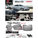 BMW F10 5-Series 2010 - 2017 NINJA SHADES UV Proof Custom Fit Car Door Window Magnetic Sun Shades (5pcs)