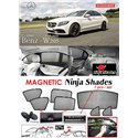 MERCEDES BENZ W205 C-Classs 2015 - 2018 NINJA SHADES UV Proof Custom Fit Car Door Window Magnetic Sun Shades (7pcs)