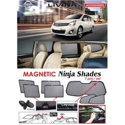 NISSAN LIVINA 2006 - 2019 NINJA SHADES UV Proof Custom Fit Car Door Window Magnetic Sun Shades (7pcs)