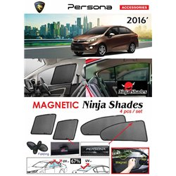 PROTON PERSONA 2016 - 2019 NINJA SHADES UV Proof Custom Fit Car Door Window Magnetic Sun Shades (4pcs)