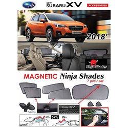 SUBARU XV 2016 - 2019 NINJA SHADES UV Proof Custom Fit Car Door Window Magnetic Sun Shades (7pcs)