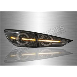MAZDA 3 2013 – 2018 Clear Lens LED Tail Lamp with Sequntial Signal (Pair) [TL-323-SQ]