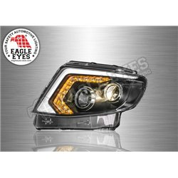 FORD RANGER T6 2011 - 2014 EAGLE EYES LED Light Bar Daytime Running Light Projector Head Lamp with Sequential Turn Signal (Pair)