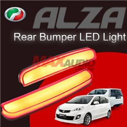 PERODUA ALZA Red Lens Rear Bumper Safety Reflector LED Light Bar (Pair)