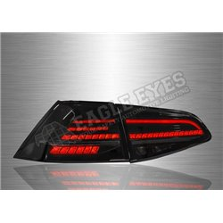 VOLKSWAGEN GOLF MK7 2012 – 2019 Black & Smoke Lens LED Tail Lamp Sequential Signal (Pair) [TL-322-SQ]
