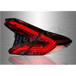 TOYOTA CHR 2017 - 2019 V2 Style Red & Smoke LED  Tail lamp with Sequential Signal (Pair) [TL-315-1]
