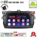 "TOYOTA ALTIS E150/E160 2008 - 2012 SKY NAVI 8"" FULL ANDROID Double Din GPS DVD CD USB SD BLUETOOTH IOS Mirror Link Player"