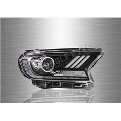 FORD RANGER T7 2016 - 2019 (V2) LED Sequential Signal+One Touch Blue Projector Head Lamp (Pair) [HL-213-V2]