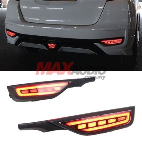 HONDA JAZZ / FIT Facelift 2017 - 2019 Rear Bumper LED Safety Brake Light Reflector with Sequential Turn Signal