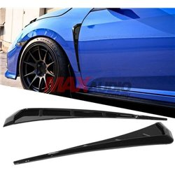 HONDA CIVIC FC 2016-2019 Front Fender Side Vents Black Fiber Look (2 pcs) [FD-19]