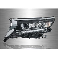 TOYOTA LAND CRUISER 2018 - 2019 Black Projector Prado LED Sequential Signal Head Lamp (Pair) [HL-252]