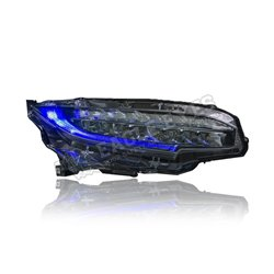 HONDA CIVIC FC 2016 – 2019 (V2) Black LED One Touch Blue Sequential Signal Head Lamp (Pair) [HL-204-TOB-V2]