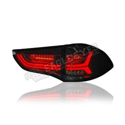 MITSUBISHI PAJERO SPORT 2011 - 2018 Smoke LED Squential Signal Tail Lamp (Pair) [TL-311-SQ]