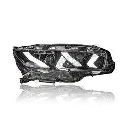 HONDA CIVIC FC 2016 - 2019 Clear & Black LED (Lambo Style) Sequential Signal Head Lamp (Pair) [HL-242-SQ]