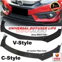 Universal (C-Style/V-Style) Front Bumper ABS Wrap Angle Wind Splitters Diffuser Lips Skirt Guard For All Vehicle Car