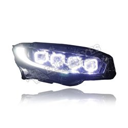 HONDA CIVIC FC 2016 - 2019 (Bugatti Style) Projector LED Head Lamp (Pair) [HL-204-SQ-1]