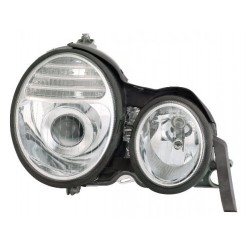 MERCEDES BENZ W210 E-Class 1999 - 2001: EAGLE EYES Chrome Housing CCFL Projector Head Lamp [HL-031-BENZ]
