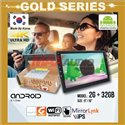 """GOLD SERIES 9""""/10"""" 2RAM + 32GB Memory Android 2.5D IPS 8.1 Oreo 4K Ultra HD Double Din Display Player"""