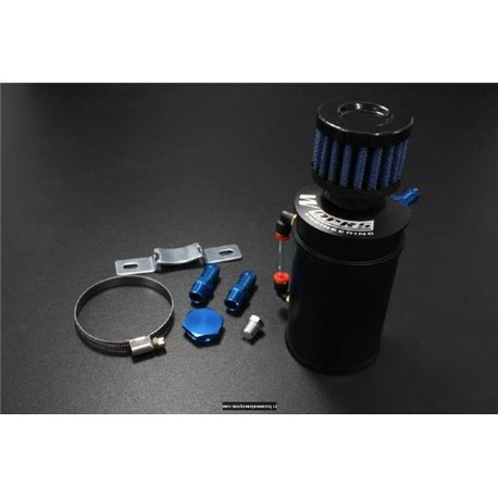 WORKS ENGINEERING USA 9mm Racing Oil Catch Tank with Mini Filter (Small) [W-OCT]