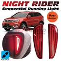 PROTON X70 Night Rider Sportivo Sequential Blinking Plug and Play Rear Bumper Reflector LED Light with Turn Signal (Red Lens)