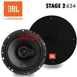 "GENUINE JBL STAGE2 634 6.5"" (160mm) 40W RMS 250W Peak 3-Way Speaker Car Vehicle Audio System Set"
