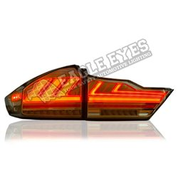 HONDA CITY GM6 2014 - 2020 (Lexus Style V2) Smoke Lens LED Light Bar Tail Lamp with Sequential Signal (Pair) (TL-250-V2-1)