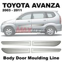 TOYOTA AVANZA 2003 - 2011 Side Door Moulding Body Level Lining Garnish with Silver Paint (4pcs/Set)