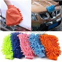 YQ Microfiber Super Mitt 2in1 Double Sided Car Wash Glove Cleaning Soft Cloth (Pair)