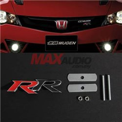 HONDA CIVIC CITY JAZZ Red Black Mugen RR Front Grill JDM Style Logo Emblem Badge