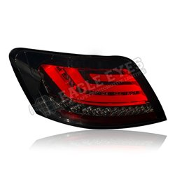 TOYOTA MARK X (REIZ) X120 2004 - 2009 EAGLE EYES F-Style Smoke Lens LED Light Bar Tail Lamp with Sequential Signal [TL-151-3-SQ]