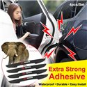 All Cars Door Side Edge Silicone Molding Trim Guard Protector Sticker with Logo (4pcs/Set)