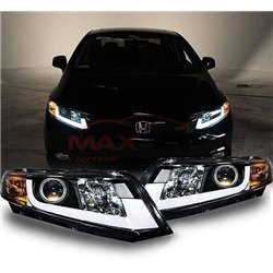 HONDA CIVIC FB 2012 - 2015 Wide U Concept LED Light Bar Projector Head Lamp (Pair)