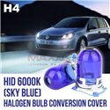 HID H4 6000K Sky Blue Head Lamp Halogen Bulb Conversion Cover Cap Main in Taiwan (Pair)
