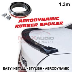 Universal Fit Aerodynamic 1.3 Meter Flexible Rear Boonet Trunk Rubber ABS Top Spoiler
