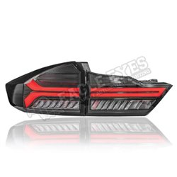 HONDA CITY GM6 2014 - 2019 AUDI Style (Ver2) Full Smoke Lens LED Light Bar Tail Lamp (Pair) [TL-318-V2]