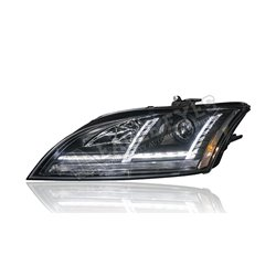 AUDI TT MK2 8J 2006 - 2014 HID Spec Black Lens Projector LED with Sequential Signal Light Head Lamp (Pair) [HL-234-SQ-HID]