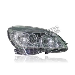 MERCEDES BENZ C-Class W204 2007 - 2014 OE Type Clear Black Lens Projector LED Light Head Lamp (Pair) [HL-043-BENZ]