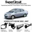 HONDA CITY GD/GE 2002 - 2007 SUPER CIRCUIT Chassis Stablelizer Strengthening Racing Safety Strut Bars