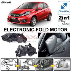 HONDA BRIO 2011 - 2017 Plug and Play Electronic Fold EF Side Mirror Motor with Auto Fold Module System