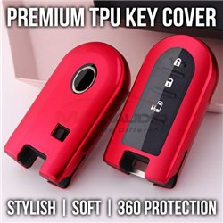 BMW HONDA MAZDA MERCEDES NISSAN PERODUA PROTON TOYOTA Premium Full Protection Soft TPU Chrome Key Remote Cover Case