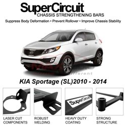 KIA Sportage (SL)2010 - 2014 SUPER CIRCUIT Chassis Stablelizer Strengthening Racing Safety Strut Bars