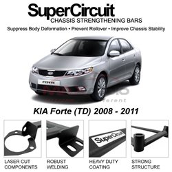 KIA Forte (TD) 2008 - 2011 SUPER CIRCUIT Chassis Stablelizer Strengthening Racing Safety Strut Bars