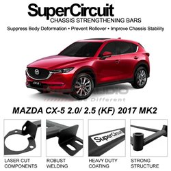 MAZDA CX-5 2.0/ 2.5 (KF) 2017 MK2 SUPER CIRCUIT Chassis Stablelizer Strengthening Racing Safety Strut Bars