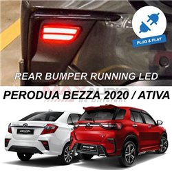 PERODUA ATIVA, BEZZA 2020 - 2021 NIGHT RIDER Plug and Play Sequential Running Rear Bumper LED Light with Turn Signal (Pair)