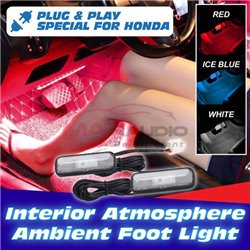 HONDA CITY HRV JAZZ CIVIC ACCORD CRV 12V LED Interior Front Seat Atmosphere Ambient Foot Light Room Lamp (Pair)