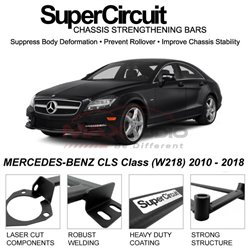 MERCEDES-BENZ CLS Class (W218) 2010 - 2018 SUPER CIRCUIT Chassis Stablelizer Strengthening Racing Safety Strut Bars