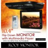 "10.4"" Black Color TFT Roof Monitor w/ DVD/VCD/MP3/USB/SD Player"