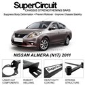 NISSAN ALMERA (N17) 2011 SUPER CIRCUIT Chassis Stablelizer Strengthening Racing Safety Strut Bars
