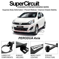 PERODUA Axia SUPER CIRCUIT Chassis Stablelizer Strengthening Racing Safety Strut Bars