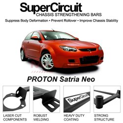 PROTON Satria Neo SUPER CIRCUIT Chassis Stablelizer Strengthening Racing Safety Strut Bars